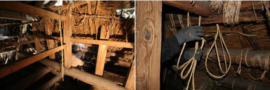 茅屋根葺き替え作業