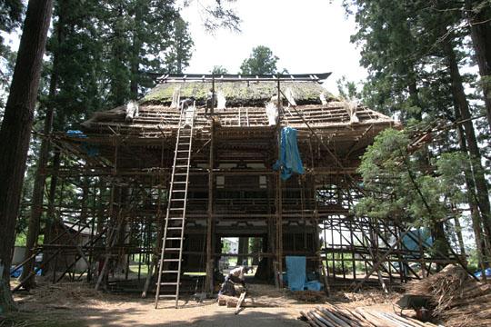 神宮寺山門 屋根葺き替え
